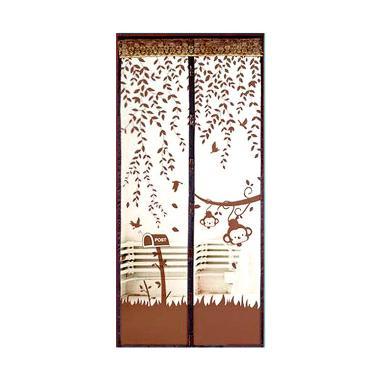 Lotusshops Monkey Garden [X] Exclusive Coklat Tirai Pintu Magnet