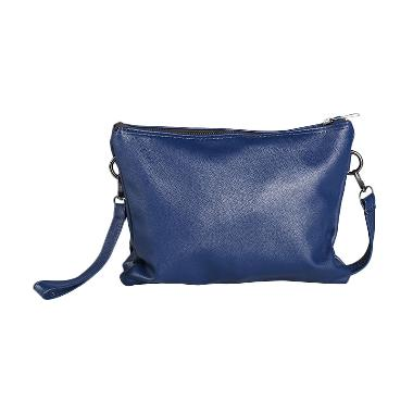 Louvre Paris Caviar 3 Compartment BLI-001-006 Tas Selempang - Navy