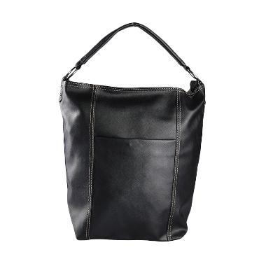 Louvre Paris Hobo Bag Taiga BLI-001-012 Tas Tangan - Black