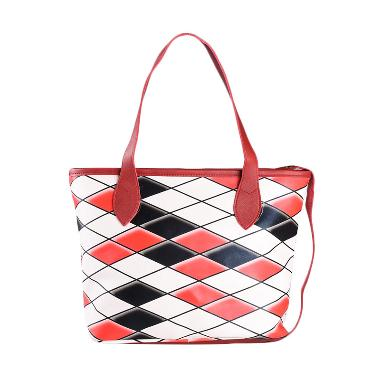 Louvre Paris Tote Bag Rope Snake Dominant BLI-001-033 Tas Tangan - Red