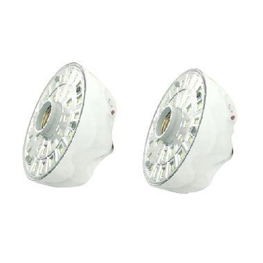 Luby L-5618A Fiting Lampu Emergency - Putih [30 NEW SMD/20 Jam/2 pcs]