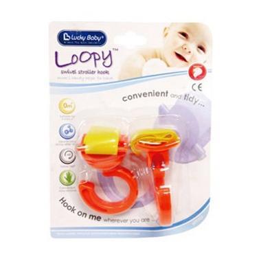 Lucky Baby 9323 Orange Loopy Swivel Stroller Hook