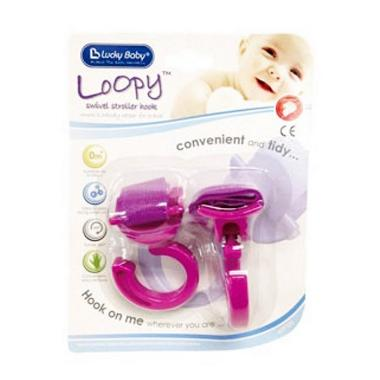 Lucky Baby LB 9323 Pink Loopy Swivel Stroller Hook