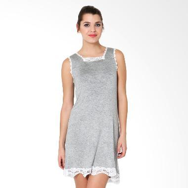 Lucuna Pretty Lace Sleepwear Grey Baju Tidur Wanita