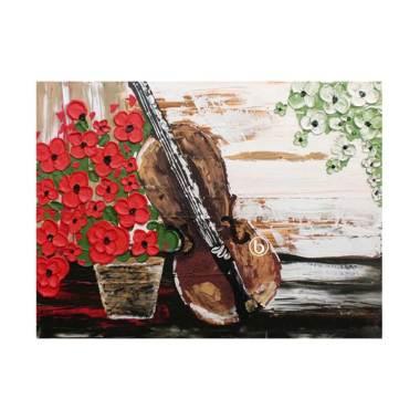 Lukisanku D1-18 Lukisan Bunga       ...
