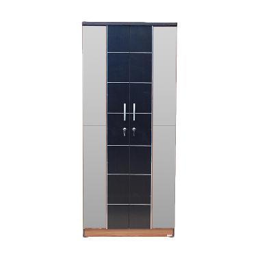 Lunar LPT 024 Lemari Pakaian [2 Pintu/Cermin/Khusus Jabodetabek]