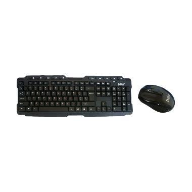 M-Tech STK-02 Keyboard & Mouse Wireless - Hitam [2.4 Ghz]