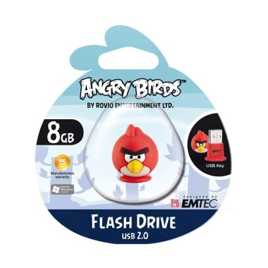Jual Emtec USB 2.0 Flash Drive 8 GB Angry Bird Harga Rp 249000. Beli Sekarang dan Dapatkan Diskonnya.