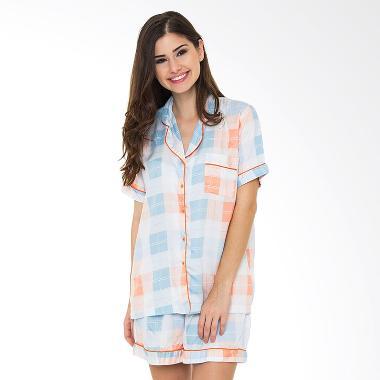 Madeleine Emily Organic Pajama Set - Dusty Pink Off White