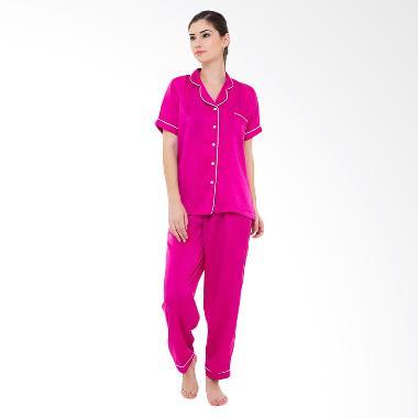 Madeleine`s Silk Long Baju Tidur - Fuschia