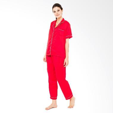 Madeleine`s Silk Long Baju Tidur - Red
