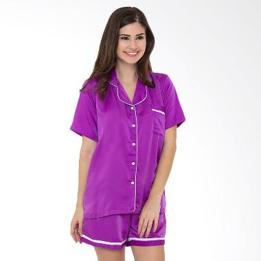 Madeleine Silk Short Baju Tidur - Purple