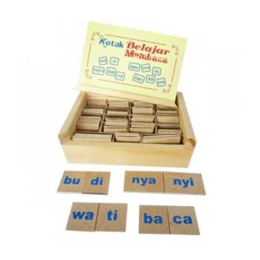 Mainan Anak Kotak Belajar Membaca Mainan Block & Puzzle
