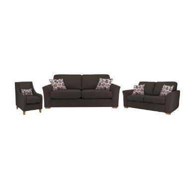 Malibu Everland 321 Seater Sofa - Dark Brown