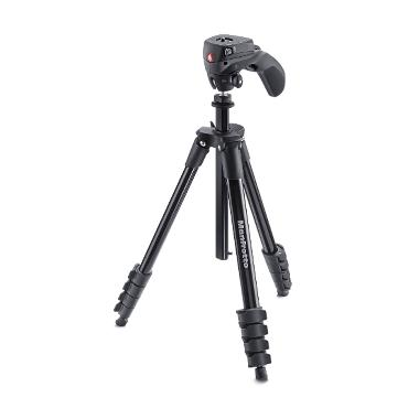 Manfrotto Compact Action Hitam Tripod