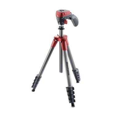 Manfrotto Compact Action Merah Tripod