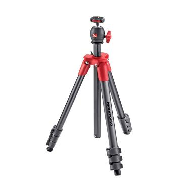 Manfrotto MKCOMPACTLT-RD Compact Light Tripod - Red