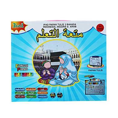 MAO IPAD Anak Muslim Papan Tulis Mainan Edukasi [3 Bahasa]