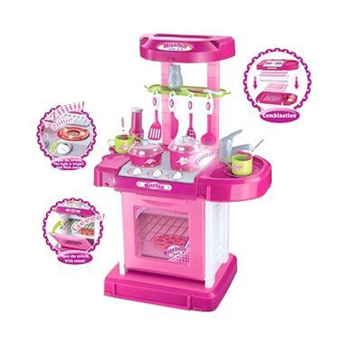 Mao Kitchen Set Koper Pink Mainan Anak