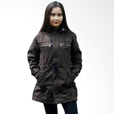 Marajo Parka Holic Kanvas Type2 Jacket Parka Wanita - Coklat