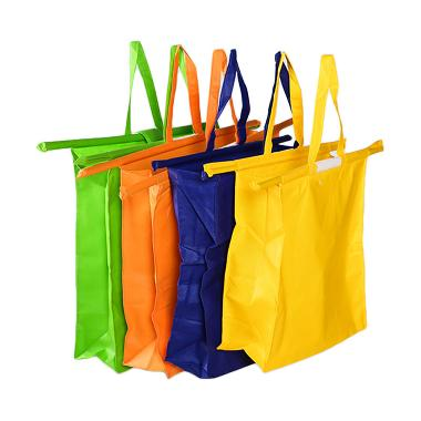 Marie And Elza Trolley Bag Set B - Kuning, Biru, Orange, Hijau