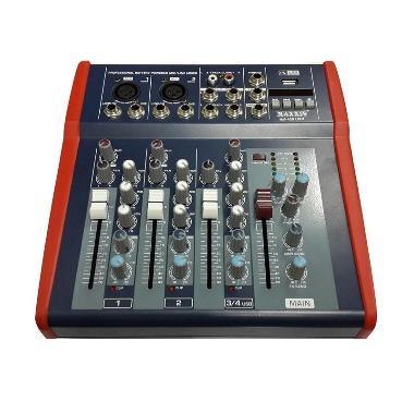 Maxxis MX-400 Mixer 4 Channel USB - Hitam