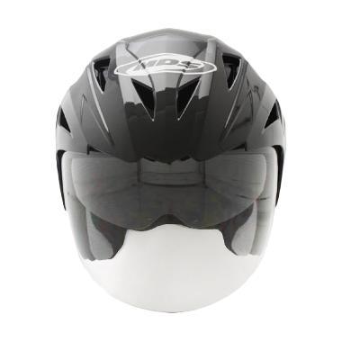 harga MDS Projet 2 Helm Half Face - Solid Black Silver Doft Blibli.com