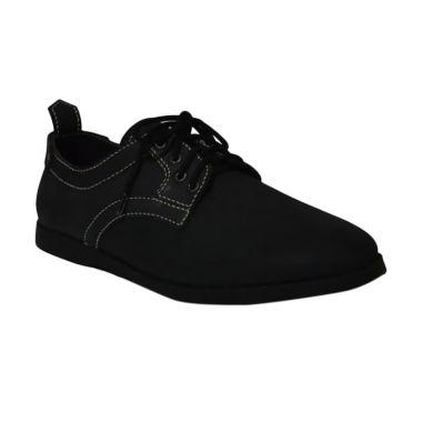Mekafa Kulit Asli Sepatu Pria - Black 608a374719