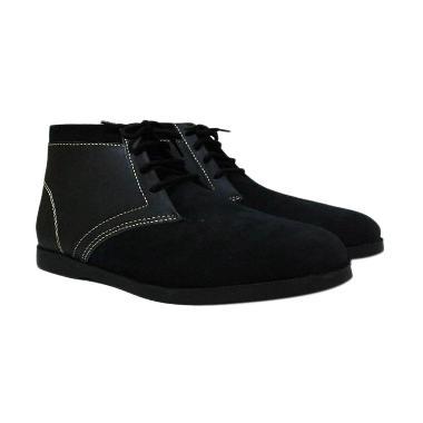 Mekafa Mekasu Kulit Sepatu Pria - Black