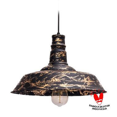 Mendekor Biak Pendant Light Lampu Gantung - Black Ochre