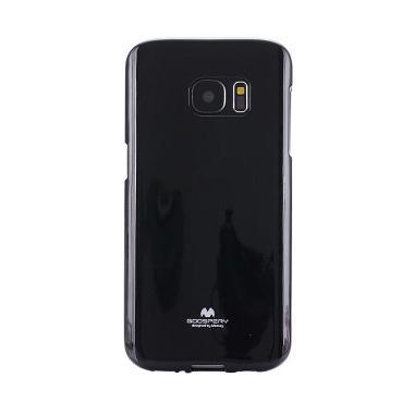 Mercury Jelly Casing for Samsung Galaxy S7 Flat - Black