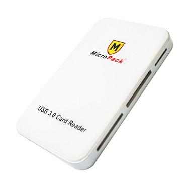 Micropack MCR-36 Card Reader - White [USB 3.0]