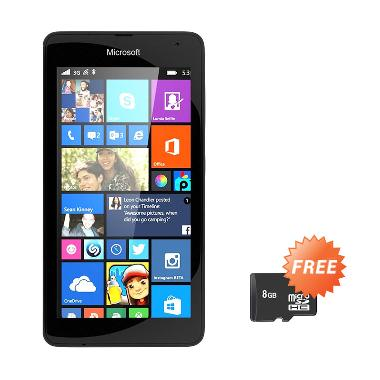 Microsoft Lumia 535 Smartphone - Black [8 GB] + Free MicroSD 8GB