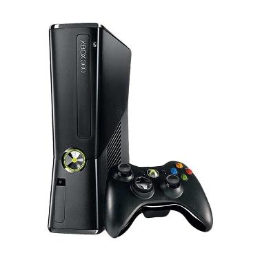 Microsoft XBOX 360 Slim Full Games Hitam Game Console [250 GB]