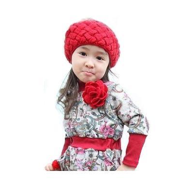 Baby Talk Pienapple Hat Motif Nanas Merah Topi Rajut