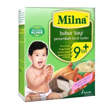 harga Milna Bubur Bayi Penambah Berat Badan Ayam Manis Teriyaki 9m+ Makanan Bayi Blibli.com