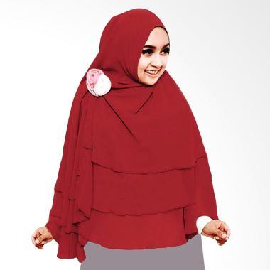 Milyarda Hijab 3 Layer Khimar - Maroon