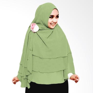 Milyarda Hijab 3 Layer Khimar - Olive