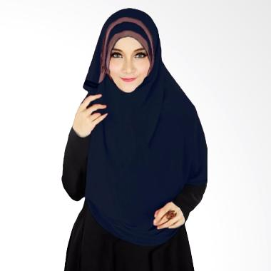 Milyarda Hijab Athalia Kerudung Syar'i - Biru Dongker