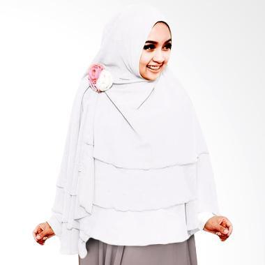 Milyarda Hijab Khimar 3 Layer - Putih