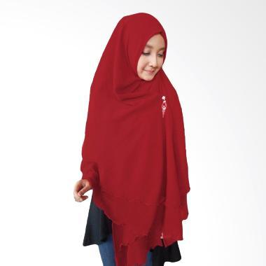 Milyarda Hijab Oki Panjang MaroonMilyarda Hijab Oki Panjang Kerudung Syar'i - Maroon