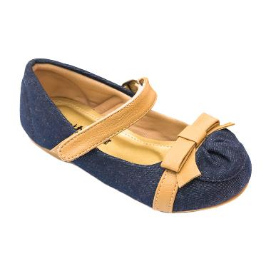 Minetha Kid Shoes Macy Jean Pita Coklat Sepatu Anak Perempuan