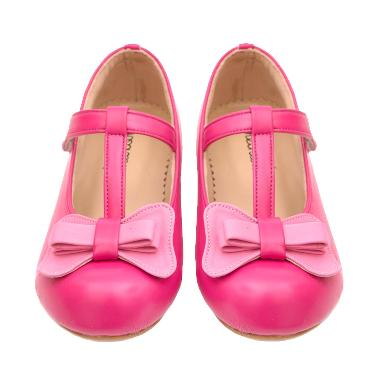 Minetha Kid Shoes Mega Kulit Imitasi Sepatu Anak Perempuan - Pink Tua