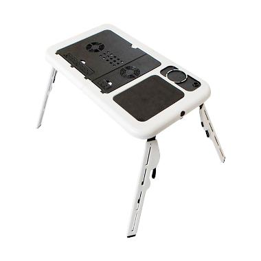 Meja Laptop Lipat Portable E-Table With Cooling Fan Notebook