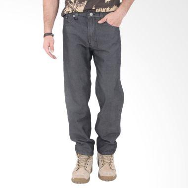 Old Egypt Men Denim Jeans Black Twill