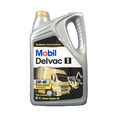 Mobil 1 Delvac 5W 40 Full Synthetic Diesel Engine Oil Galon 5 L