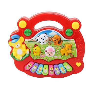 Tantan  Animal Farm Piano Mainan Anak - Red