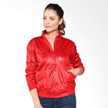 Monstruck Poly Jacket Double Zipper MS-F-J156 Jaket Wanita - Red
