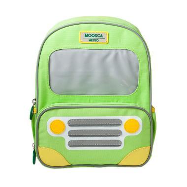 Moosca Kids Bus Backpack Tas Ransel Anak - Spring Green