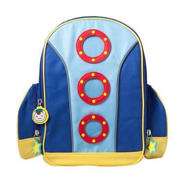 Moosca Kids Rocket Backpack Tas Ransel Anak - Mazarine Blue